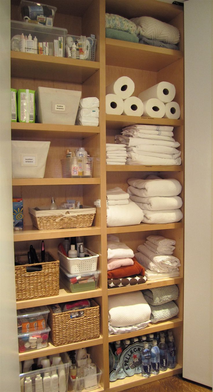 323 Best Home Linen Closet Images On Pinterest Organization Ideas Bathroom Organization And