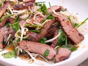 Thai-Style Marinated Flank Steak and Herb Salad. New. Favorite. Beach meal perhaps.