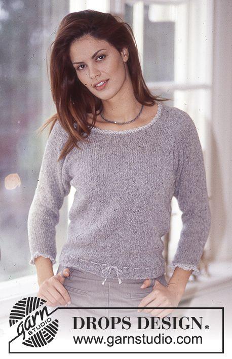 Jersey DROPS en Silke-Tweed y Cotton Viscose. Patrón gratuito de DROPS Design.