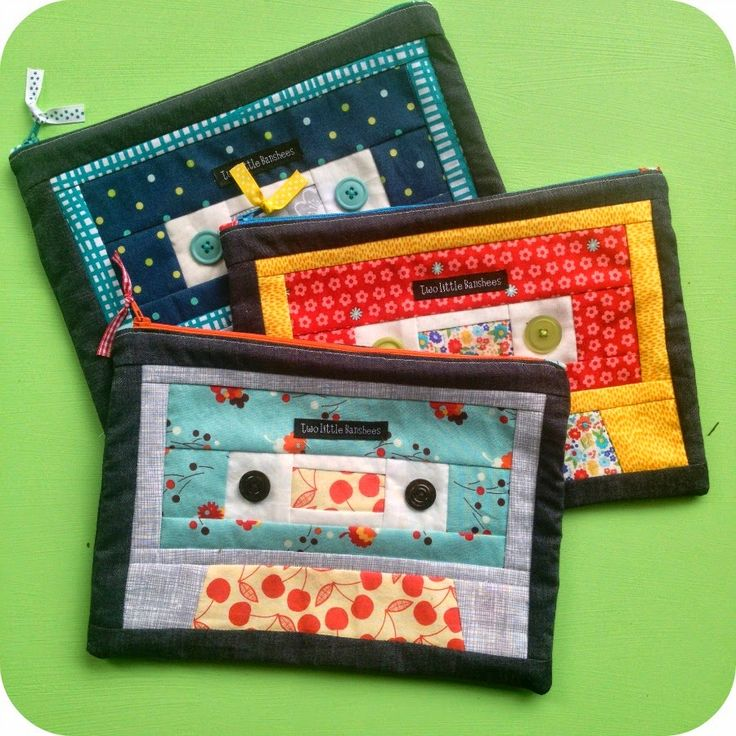 Two Little Banshees: Cassette pouches: Cassette Pouch, Quilts Cassette, Quilting, Quilts Sewing Projects, Zippers Pouch