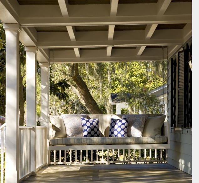 porch swing (big enough for a nap!)