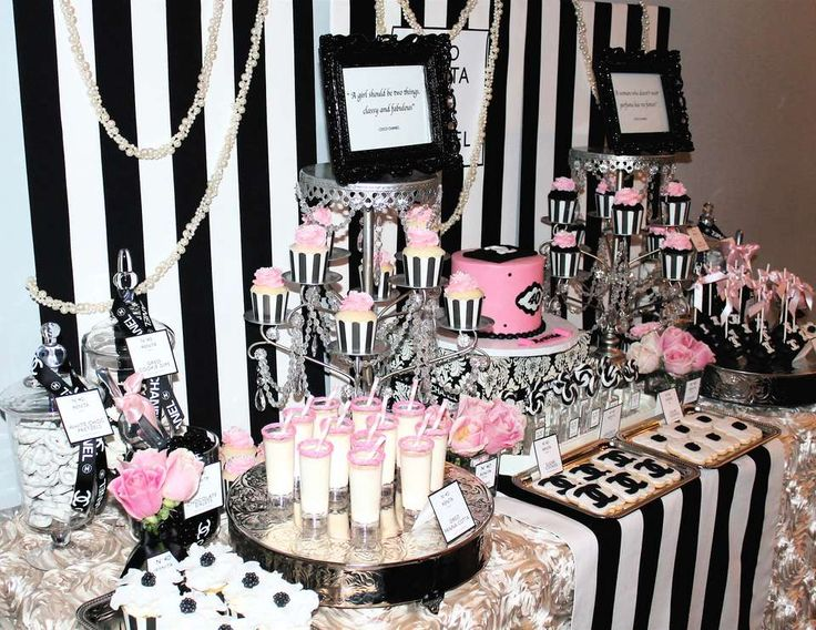 Coco chanel birthday renita 39 s chanel 40th birthday for 35th birthday decoration ideas