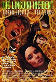 The Linguini Incident is a 1991 American comedic film set in New York starring David Bowie and Rosanna Arquette. The film was directed by Richard Shepard, who co-wrote the script with Tamar Brott. Marlee Matlin, Buck Henry and Iman co-star. Lucy (Arquette) is a frustrated magician, specifically an escape artist, who is obsessed with becoming a modern female version of Harry Houdini.