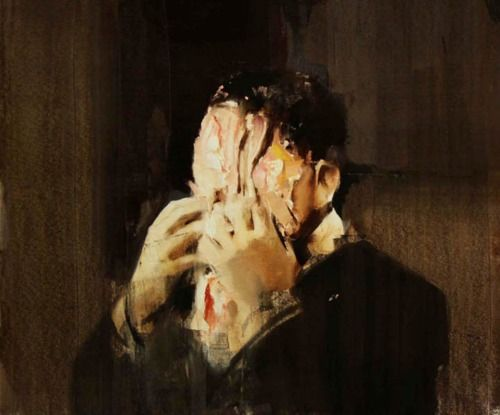 From http://atmosphre.tumblr.com: Face Off, Artists, Photos Projects, Inspiration, Adrian Ghenie, Community Art, Painting, Pies Fight, Fight Study
