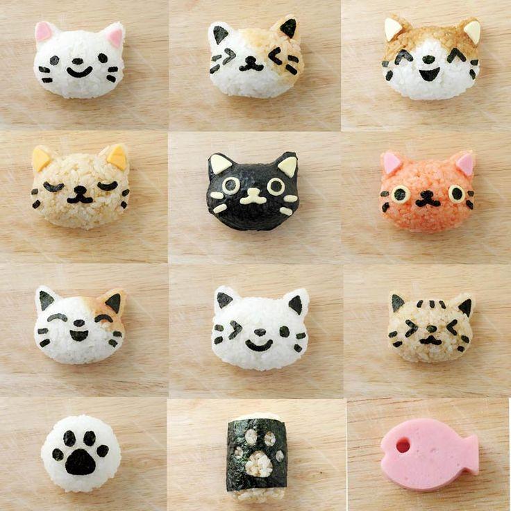 Omusubi Nyan – Un gadget pour créer des boulette de riz adorables en forme de chat