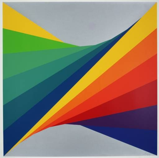 Herbert Bayer (1900‑1985) Chromatic Twist / Chromatische Drehung 1970. Screenprint on paper, 752 x 752 mm