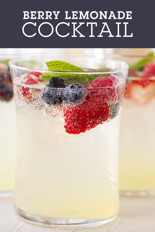 Fresh Berry Lemonade Cocktail is the perfect spring beverage for warm,  breezy nights. It's