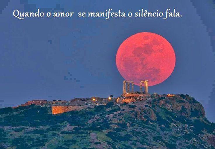 """=mensagemais=: =""""Quando o amor se manifesta o silêncio fala.""""==Bo..."""