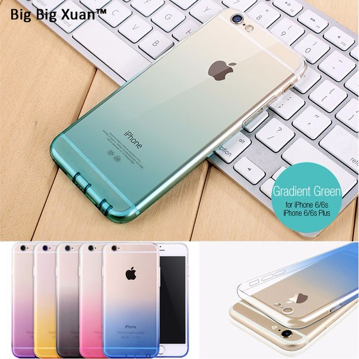 Gradient Case Cover for iPhone7 8 7Plus 5 5s SE 6 6s 6sPlus 5.5 TPU Case Soft Dual Silicon Phone Case Fundas for iPhone TPU Gel