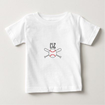 CLE Cleveland Baseball Gift Baby T-Shirt - cool gift idea unique present special diy