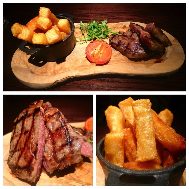 Steak and chips - food of the gods! And no one cooks a good steak like the French...