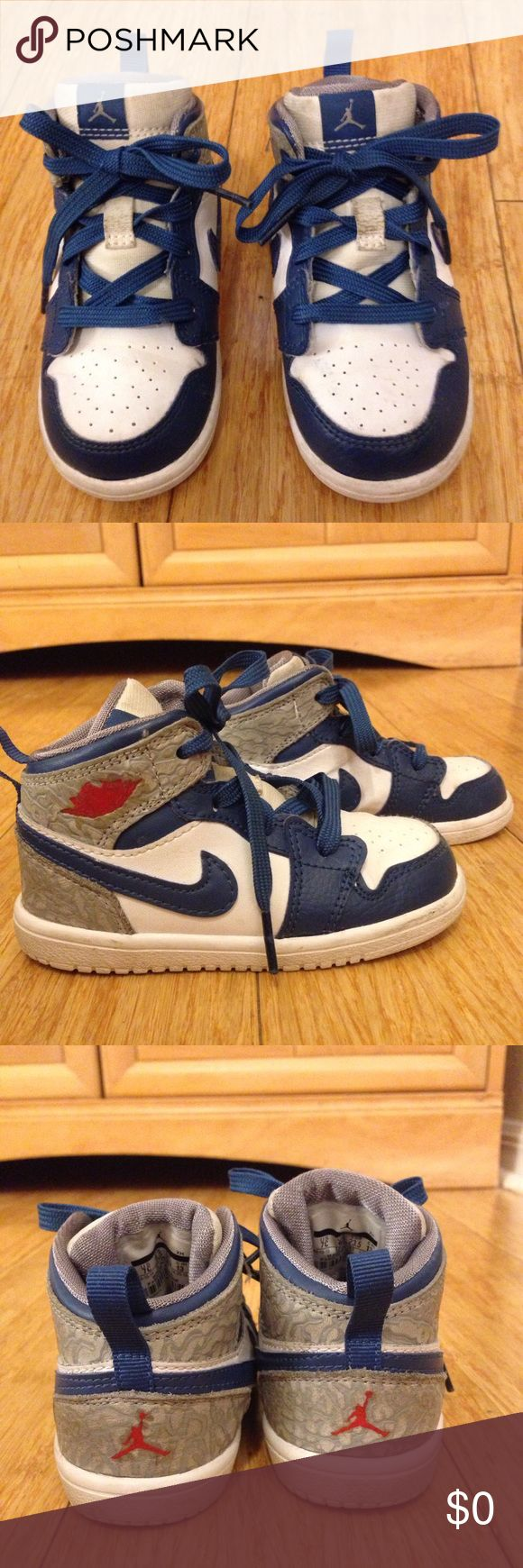 🌴NEW LISTING🌴 Jordan Sneakers Blue and white.  Show signs of wear. Size 12. (5/6) Jordan Shoes Sneakers