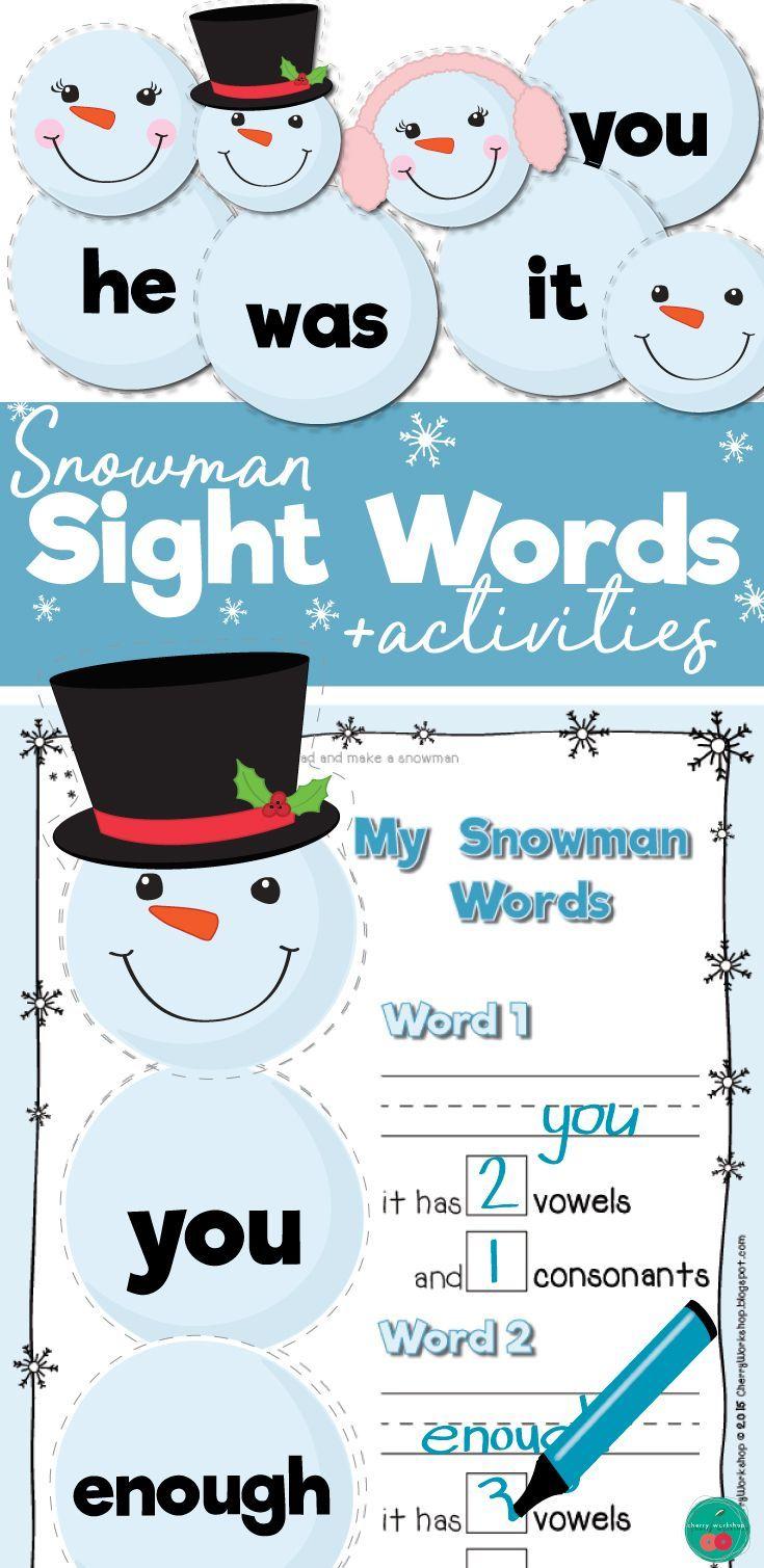 Winter Sight Words | Great Ideas from Teachers | Pinterest | Fry ...