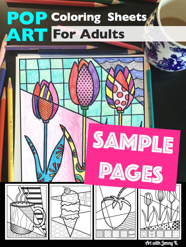 Pop Art Coloring Pages