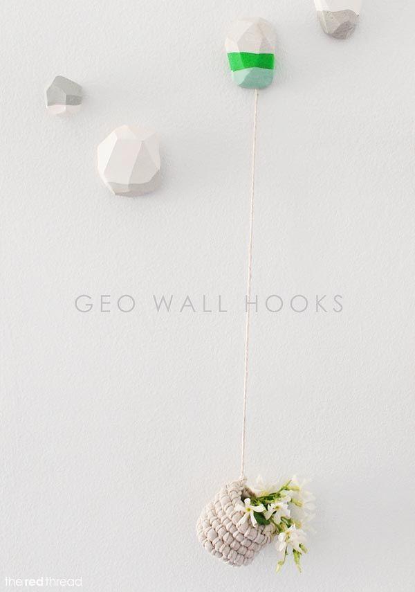 Make it :: Decorative Geo Wall Hooks