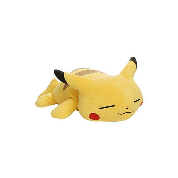 "::Toy Store Inc.:: Pokemon Sleeping Jumbo 32"" Pikachu Plush ❤ liked on Polyvore featuring toys, pokemon, plushies, accessories, fillers, phrase, quotes, saying and text"