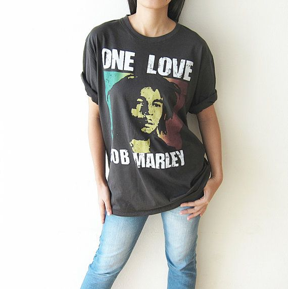 BOB MARLEY Shirt One Love TShirt Men Women T by PunkRockTshirt, $15.50