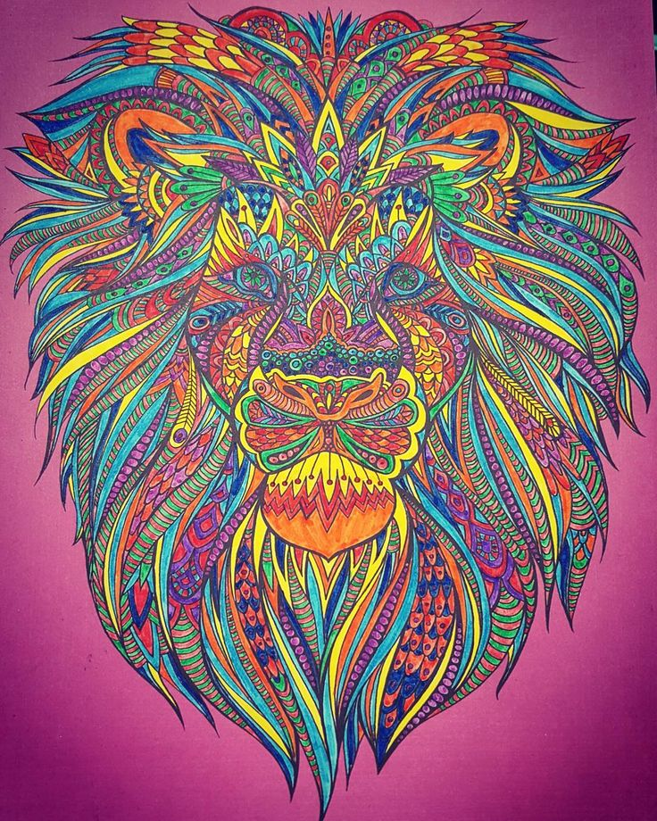 Adultcoloringbook Edrecovery Adult ColoringColoring BooksColouringLionArt Ideas
