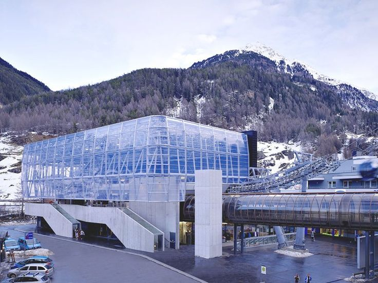 Cable car stations gaislachkogl. Location: Solden, Austria; architect: Obermoser arch-omo zt gmbh; year: 2011