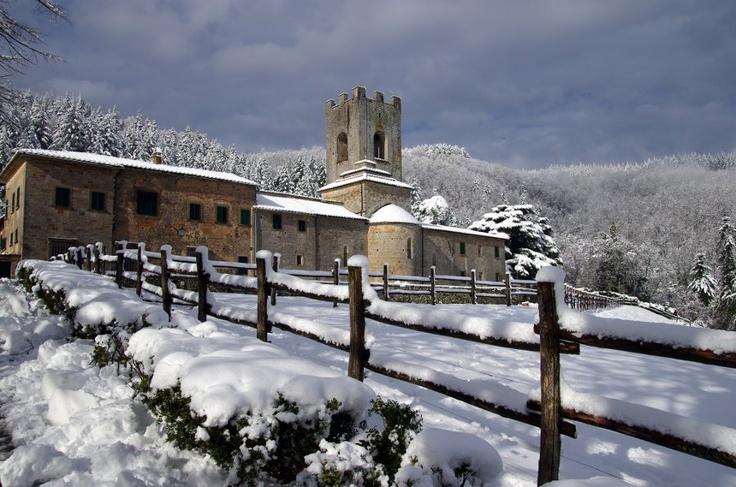 Under a blanket of #snow www.coltibuono.com