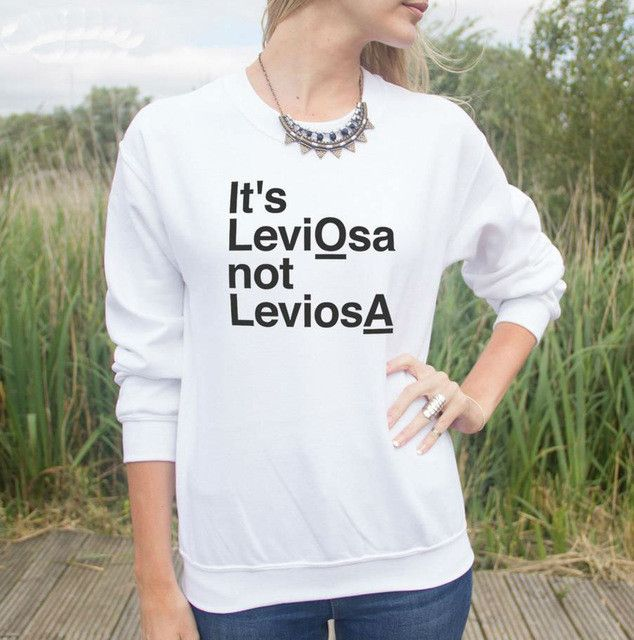 New Women Sweatshirt IT'S LEVIOSA NOT LEVIOSA Slogan Letters Print Jumper Cotton Hoody For Lady Funny Hipster HH20