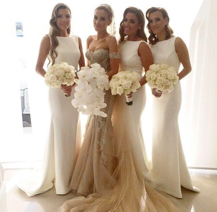 Dress Cream Bridesmaid DressesNon White