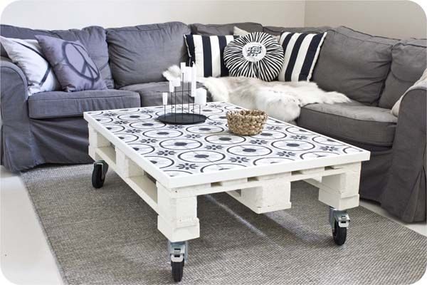 Beautiful pallet coffee table