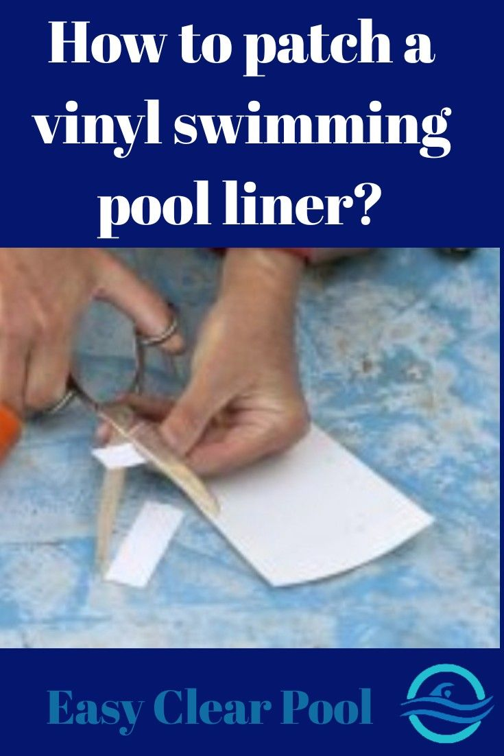 How to patch an above ground swimming pools vinyl liner