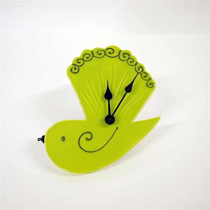 Ceramic fantail clock