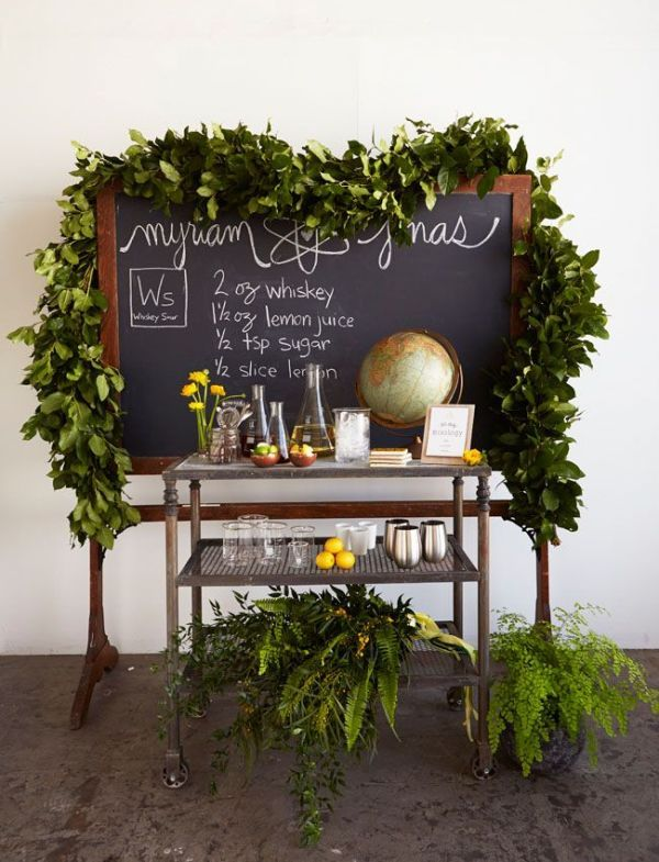 Awesome Summer Bar Styling Ideas via Bird's Party