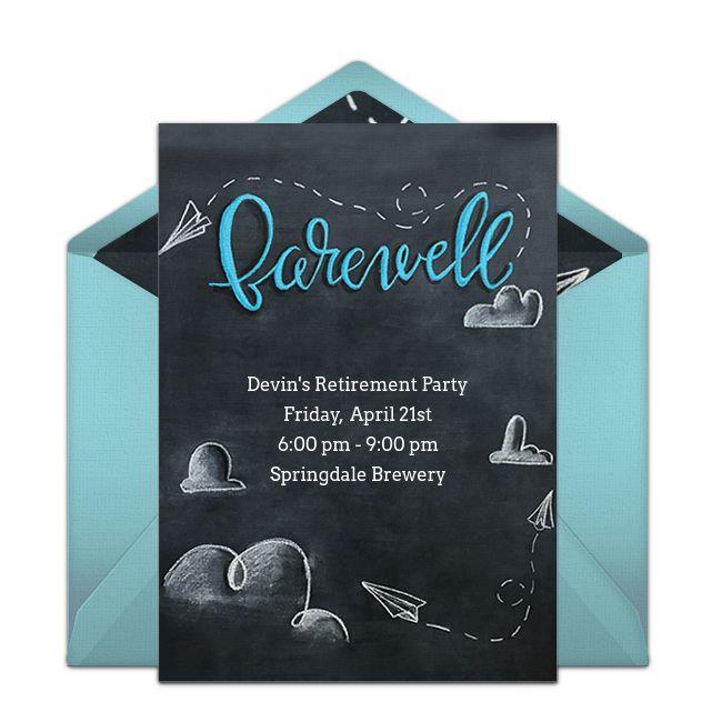 free chalkboard farewell invitations  farewell cards