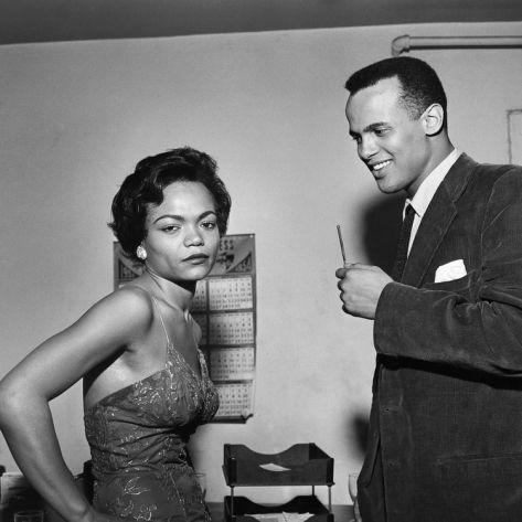 Eartha Kitt and Harry Belafonte- loving the look on her face...