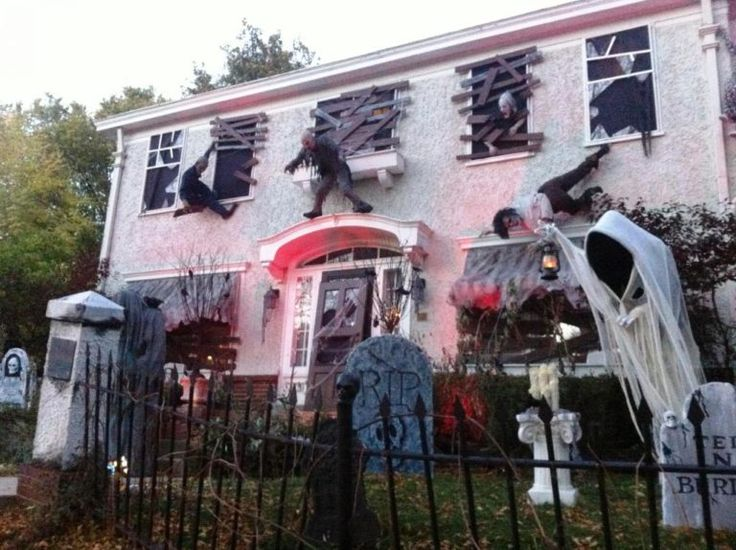 scary halloween house decorations