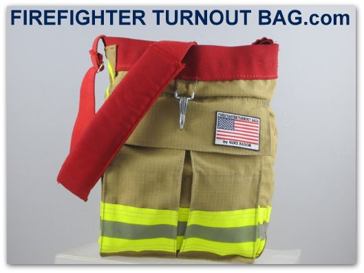 The County Bag - made by hand with recycled firefighter turnout bunker gear. #firefighter
