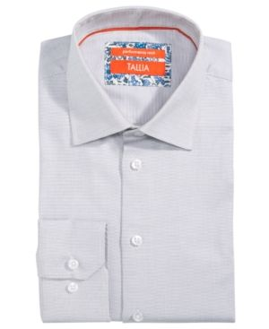 44674b2c4e TALLIA MEN S SLIM-FIT NON-IRON PERFORMANCE STRETCH TEXTURED SOLID DRESS  SHIRT.  tallia  cloth
