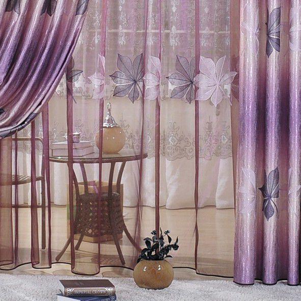 purple blackout curtains unique style leaf jacquard printing purple curtains for blackout two