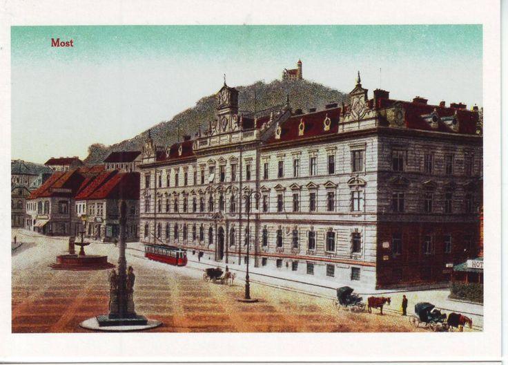 Starý Most 1.nám.Krajská a okresní soudní budova s vězením.