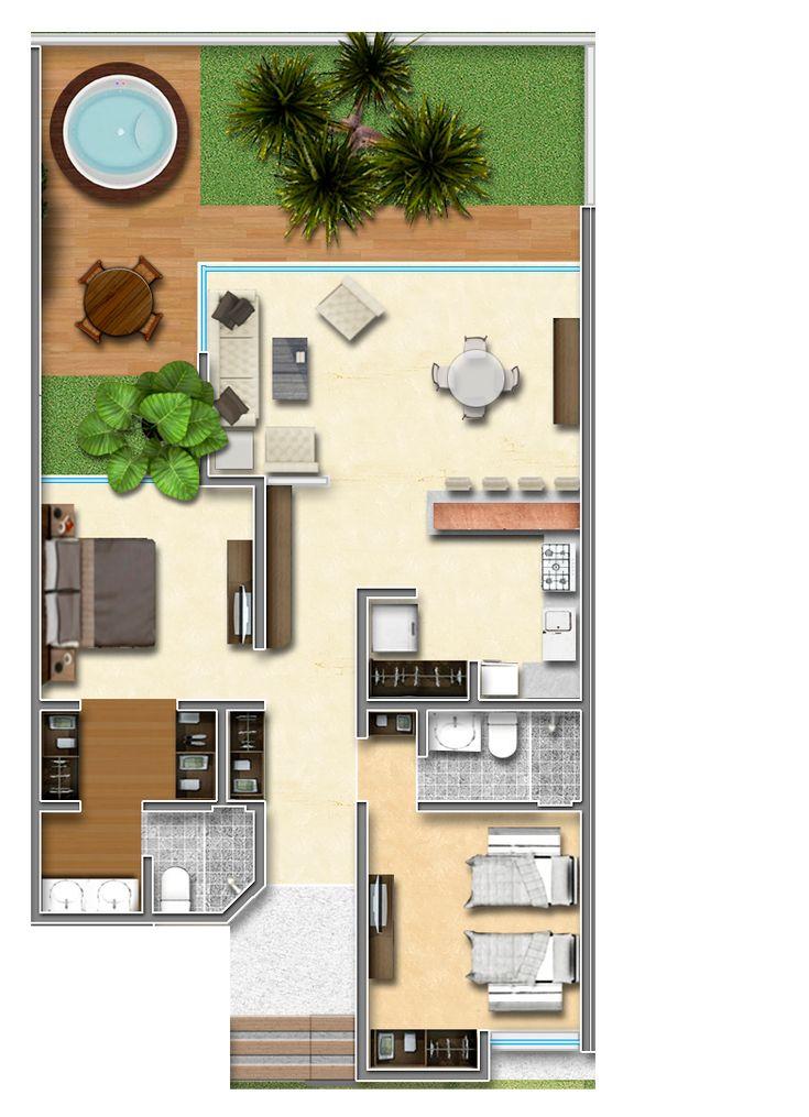 Bambú Villas es un exclusivo desarrollo de 9 casas, ubicadas dentro de una privada con seguridad.   Características:  • Sala, comedor y cocina con diseño abierto.  • - Lavandería con closet para blancos.  • - Habitación principal con baño-vestidor.  • - Habitación de invitados.  • - Baño completo.  • - Un estacionamiento  • - Acceso a la alberca exclusiva para residentes de Bambú Villas.   Precios de $1,900,000  2 recámaras y la  3 Habitaciones con 3 baños precio de $3,170,000 MN