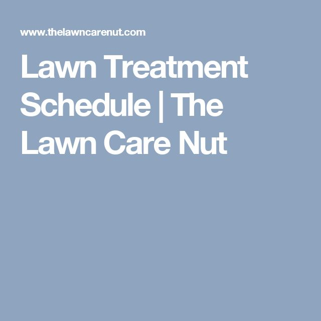 Lawn Treatment Schedule | The Lawn Care Nut