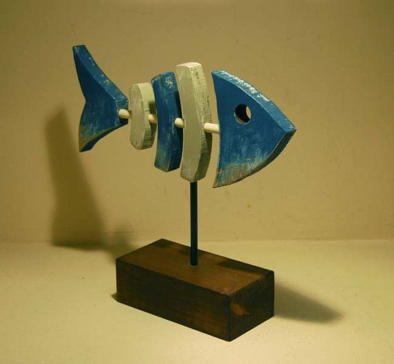 Wood fish by laCajadelasLetras on Etsy