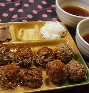 【冷凍蕎麦】鴨南蛮☆きのこ団子そば