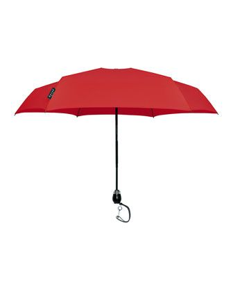 Traveler Small Umbrella, Red by Davek at Neiman Marcus.