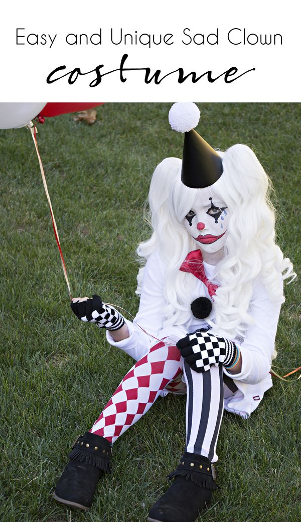 Easy and unique sad clown costume | handmade kids costume | fun and unique kids costume | harlequin costume for kids