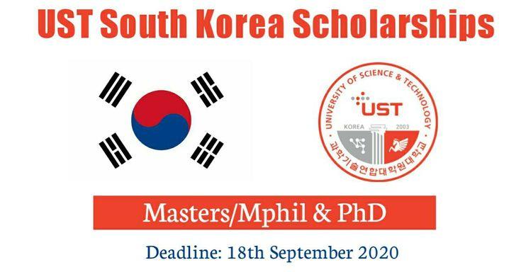 UST South Korea Scholarships 2021 at University of South ...