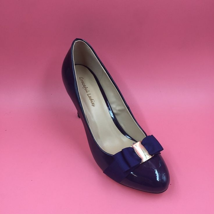 69.90$  Buy now - http://aliboz.worldwells.pw/go.php?t=32749306204 - 2016 Real Image Navy Blue Patent Leather Women Pumps Sexy Slip On Zapatos Mujer Sapatos Femininos De Salto Custom Made Plus Size