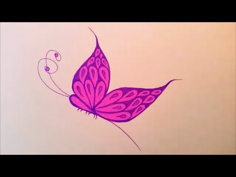 how to draw a butterfly video