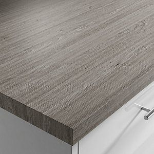 Silver Oak Grain Laminate Square Edge Worktop