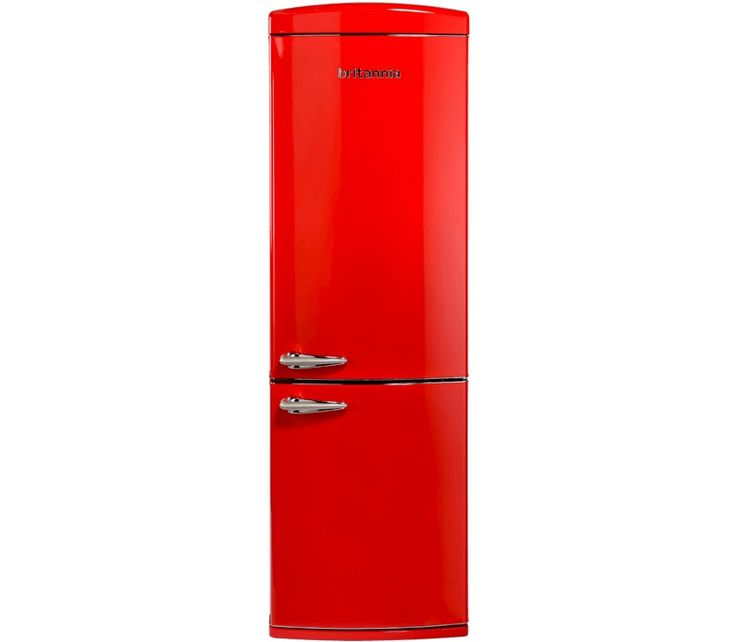 Britannia Breeze Retro Chilli Red Fridge Freezer