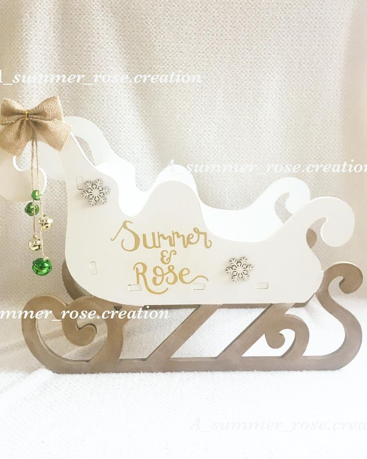 """11 Likes, 1 Comments - @a_summer_rose.creation on Instagram: """"Two more sleighs have just come in stock today, all hand painted and personalised how you wish!…"""""""