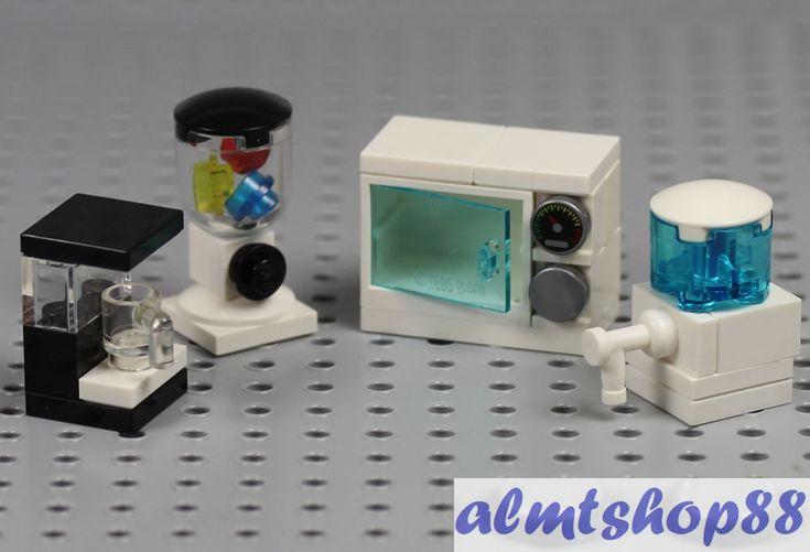 Microwave, Blender/Mixer, Coffee Maker, Water Cooler. 100% Original LEGO Parts. 4x Kitchen Appliances, White.   eBay!